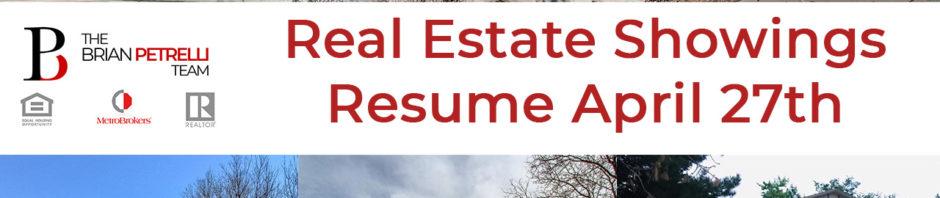 real estate showings begin april 27th